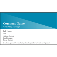 Prism design Business Card with Company Name